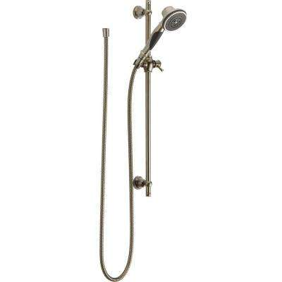 3-Spray Slide Bar Hand Shower in Stainless