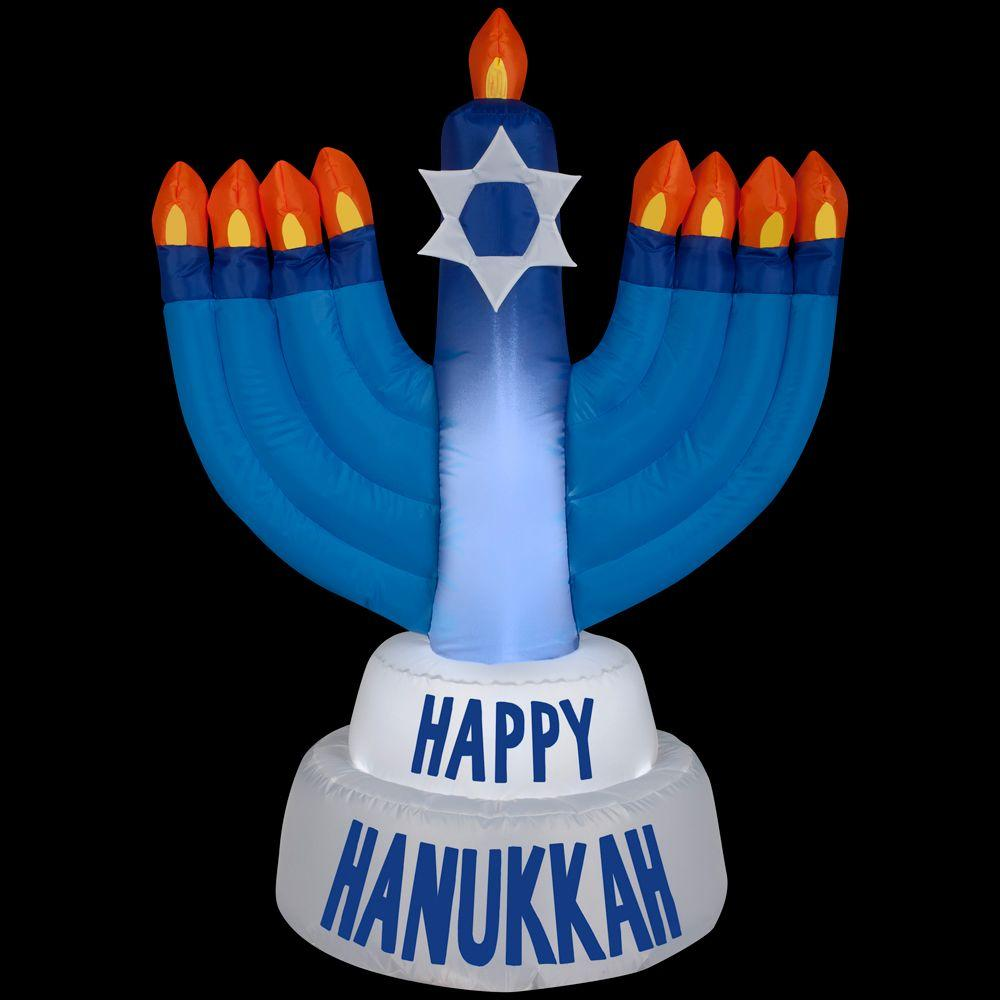 Gemmy 31 50 In D X 21 65 In W X 42 13 In H Inflatable Outdoor Hanukkah Candles