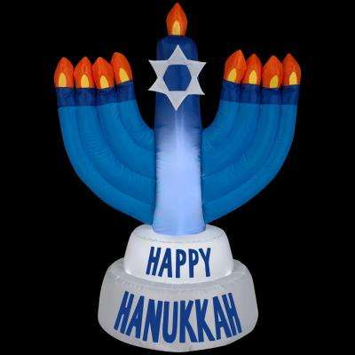31.50 in. D x 21.65 in. W x 42.13 in. H Inflatable Outdoor Hanukkah Candles