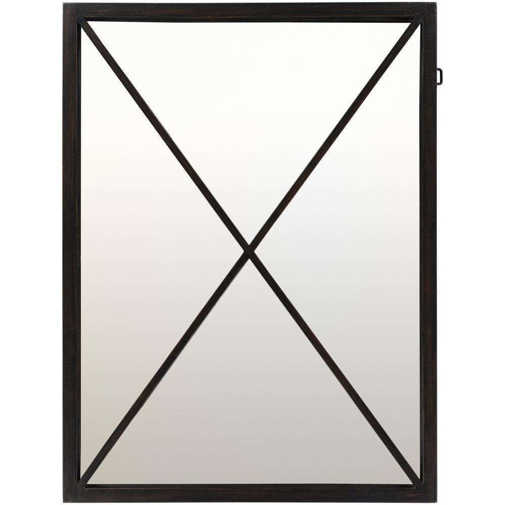 Ainey 40 in. x 30 in. Steel Framed Mirror