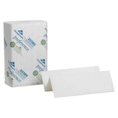Preference White Multi-Fold Paper Towels 1-Ply (4000 per Carton)