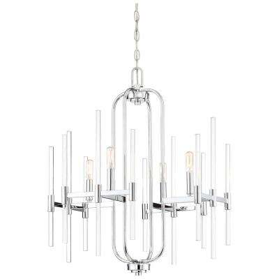 Pillar 4-Light Chrome Chandelier