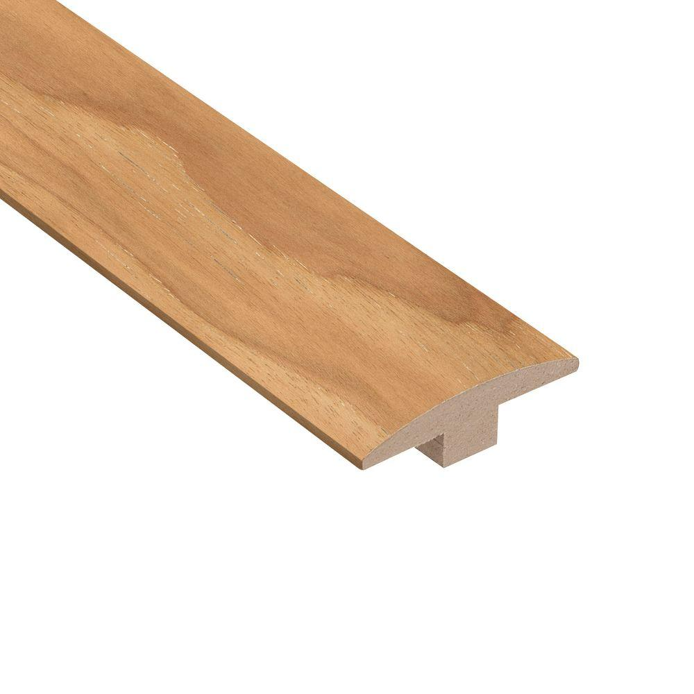 Home Legend Wire Brushed Natural Hickory 3/8 in. Thick x 2 in. Wide x 78 in. Length Hardwood T-Molding