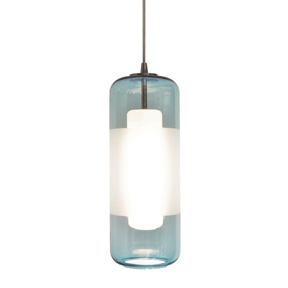 Afx 10 Watt Integrated Led Satin Nickel Pendant With Glass Shade Hrp1000l30d1snaq The Home Depot