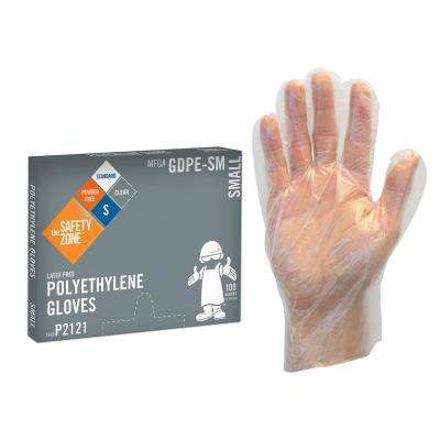 Large Clear High Density PE Gloves (10-Pack of 1,000 Count)