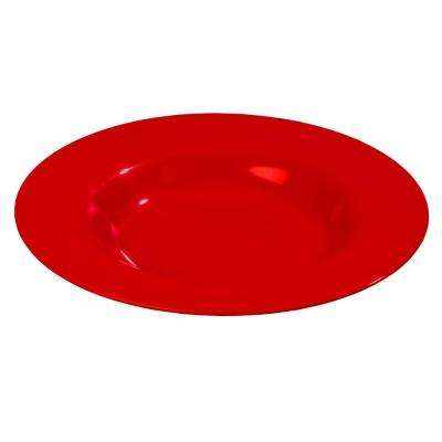 20 oz., 12.02 in. Diameter Melamine Chef Salad/Pasta/Soup Bowl in Red (Case of 12)