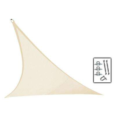 23 ft. x 23 ft. Ivory Triangle Ultra Shade Sail with Kit