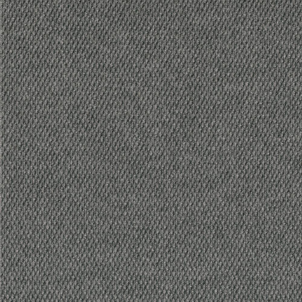 TrafficMASTER Caserta Sky Grey Hobnail Texture 18 in. x 18 in. Indoor/Outdoor Carpet Tile (10 Tiles/Case)
