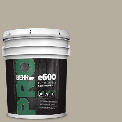 5 gal. #PPU18-13 Perfect Taupe Semi-Gloss Acrylic Exterior Paint