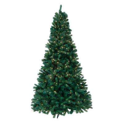 Claremont 7.5 ft. Pre-Lit Ultima Artificial Christmas Tree with Clear and Multi-Colored 8-Function LED Lights
