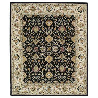Taj Black 5 ft. x 8 ft. Area Rug