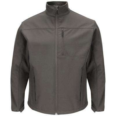 Men's 4X-Large Charcoal Deluxe Soft Shell Jacket