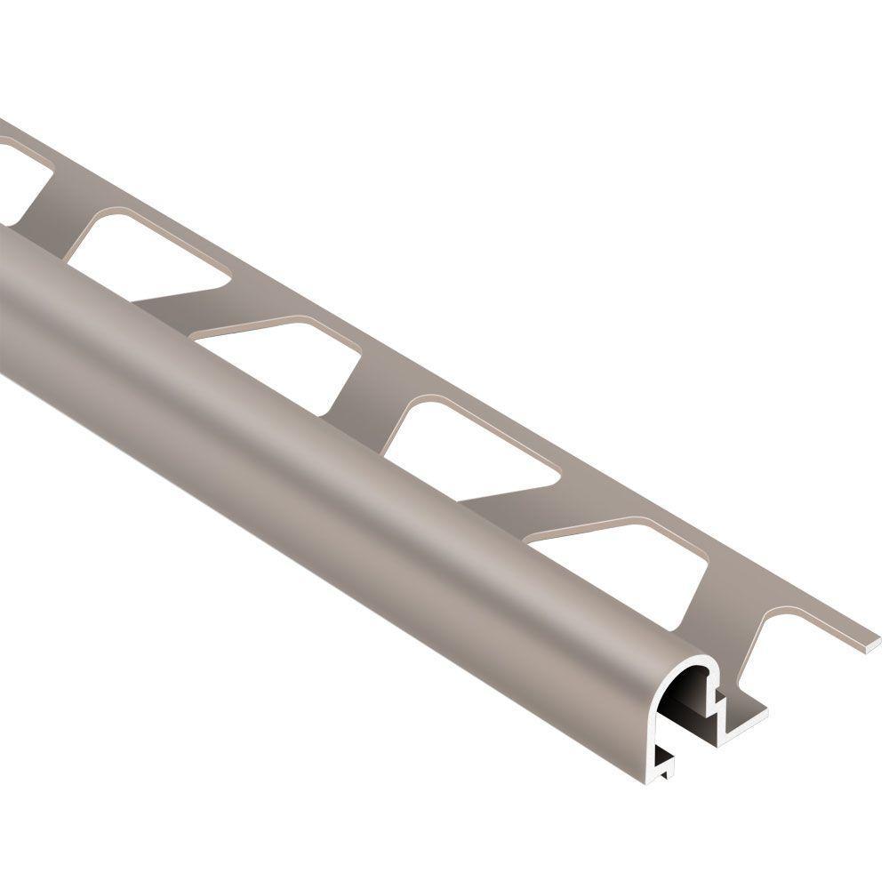 Rondec-DB Satin Copper Anodized Aluminum 17/32 in. x 8 ft. 2-1/2 in. Metal Bullnose Tile Edging Trim