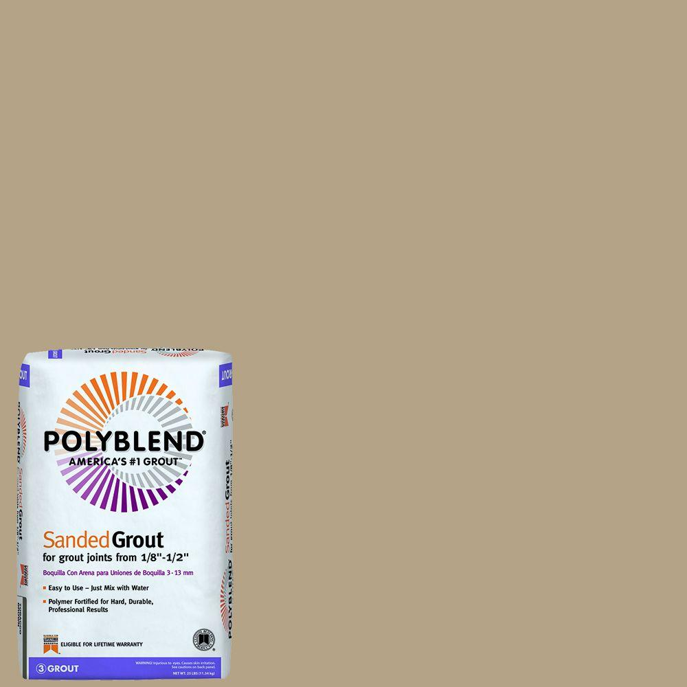 Custom Building Products Polyblend #380 Haystack 25 lb. Sanded Grout