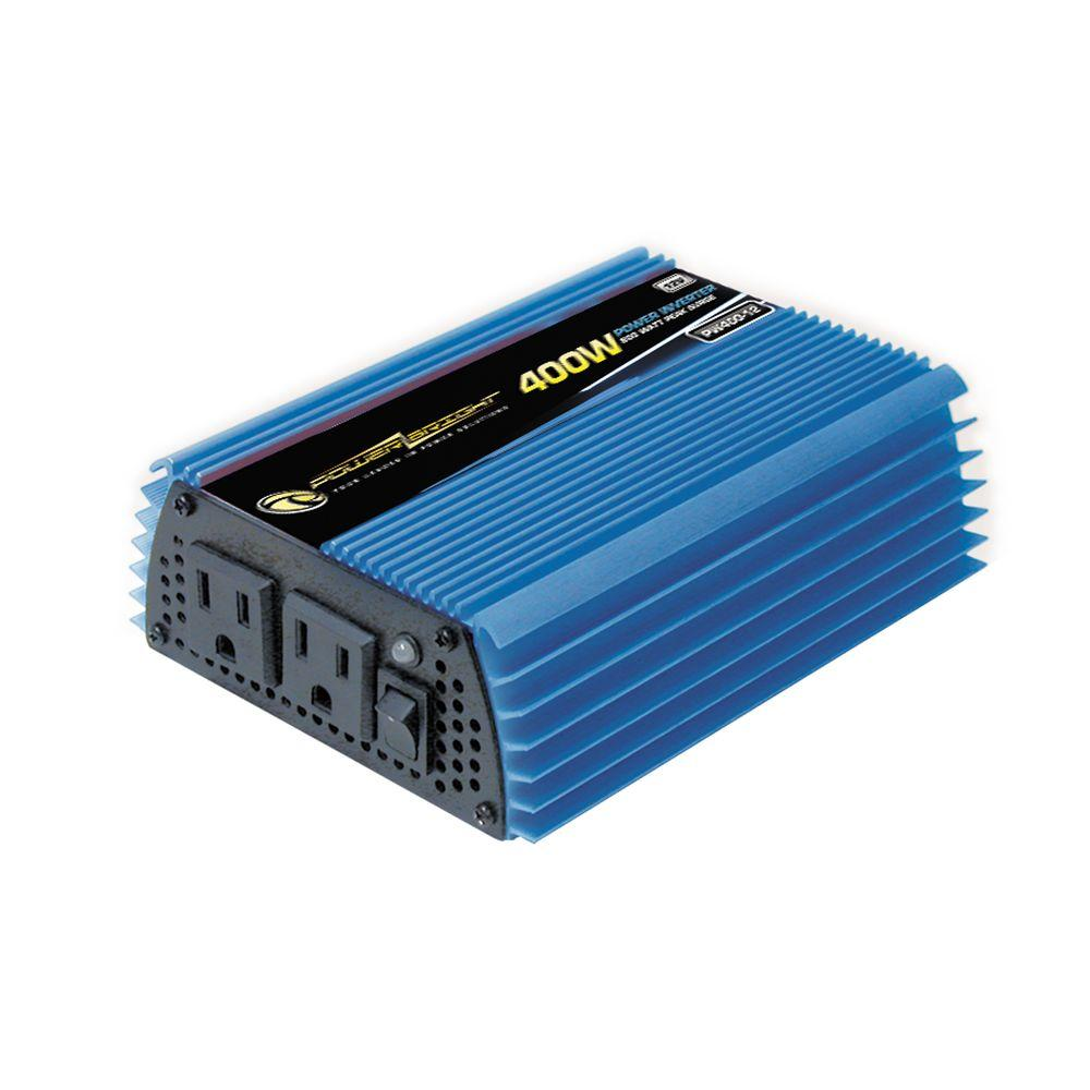 Power Bright 12-Volt DC to AC 400-Watt Power Inverter ...