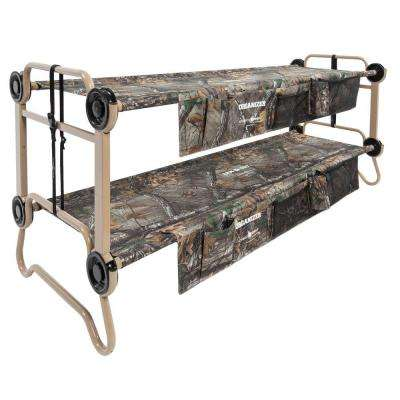 Cam-O-Bunk Realtree Xtra 82 in. Large Bunk Beds with Including Organizers