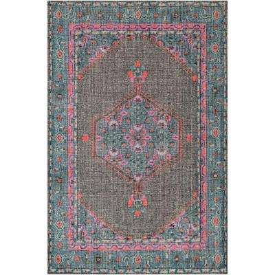 Zeno Light Blue 8 ft. x 11 ft. Indoor Area Rug
