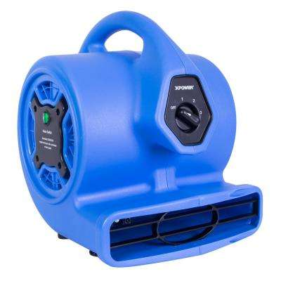 Freshen Aire 8.75 in. 500 CFM 3 Speeds Scented Mini Air Mover Blower Fan with Negative Ion Generator