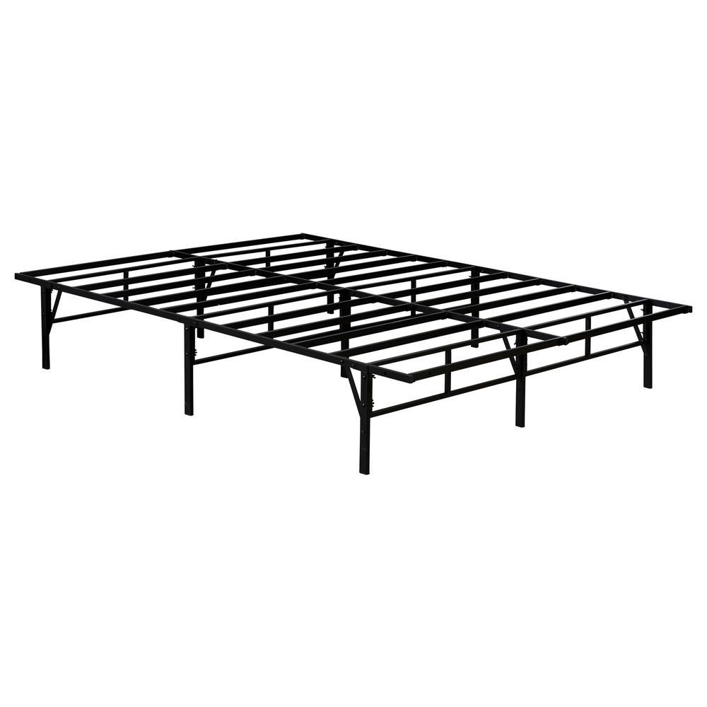 Kings Brand Furniture Kings Brand Furniture Mattress Foundation Queen Metal Platform Bed Frame, Black