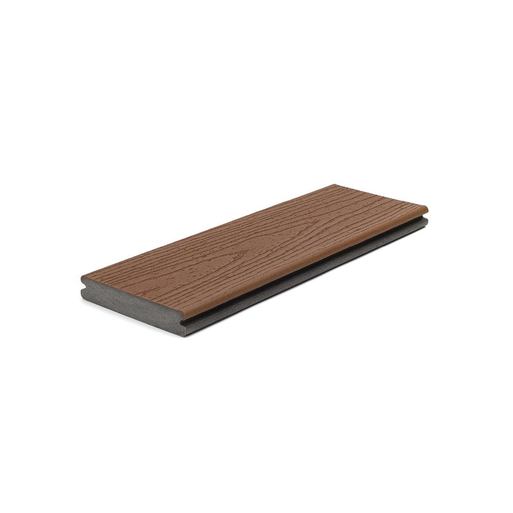 Trex Enhance 1 in. x 5.5 in x 1 ft. Saddle Composite Decking Board Sample