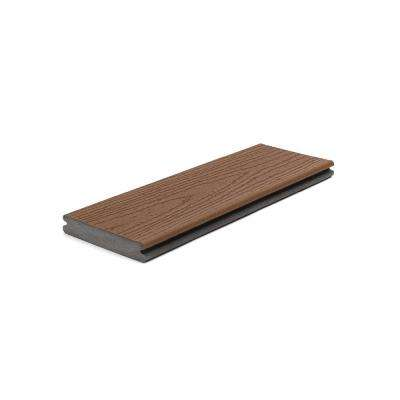 Enhance 1 in. x 5.5 in x 1 ft. Saddle Composite Decking Board Sample