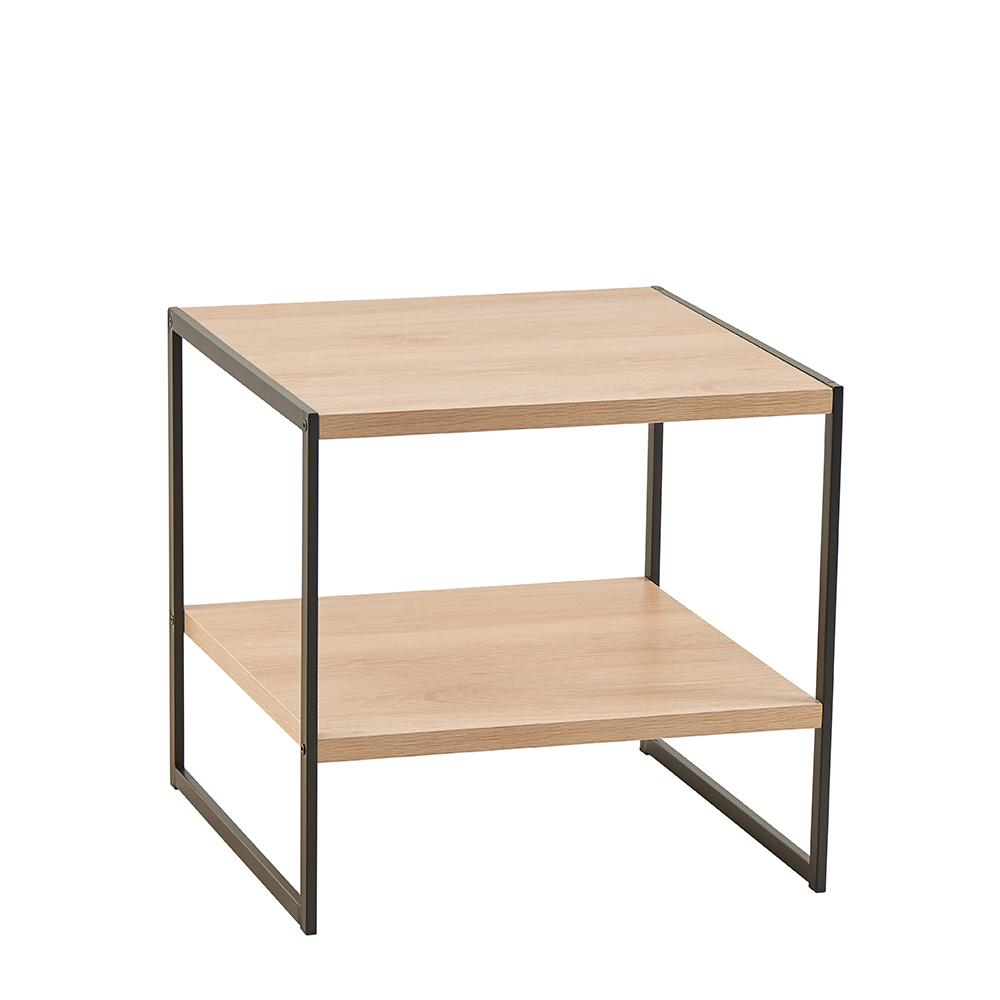 timeless design b6266 b1f1c ClosetMaid Mixed Material Storage Furniture 18.9 in W x 18.8 in. D Natural  End Table with Decorative Shelf