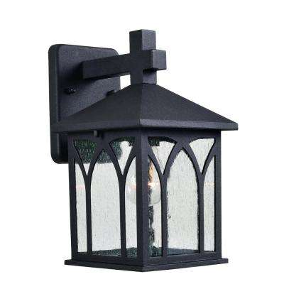 Canterbury 1-Light Black Outdoor Lantern