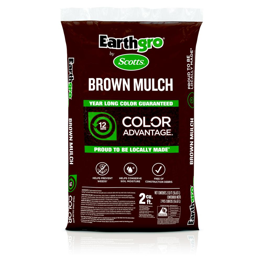 07c5973ed Earthgro 2 cu. ft. Brown Mulch-647185 - The Home Depot