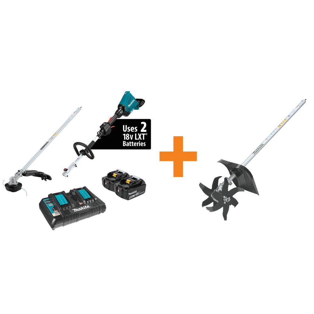 18-Volt X2 (36-Volt) LXT Lithium-Ion Brushless Couple Shaft Power Head Kit W/Trimmer Attachment/Cultivator Attachment