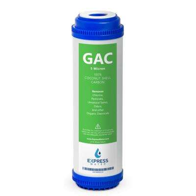 GAC Granular Activated Coconut Shell Carbon - Removes Taste Odor Water Filter 10 in. Standard Size