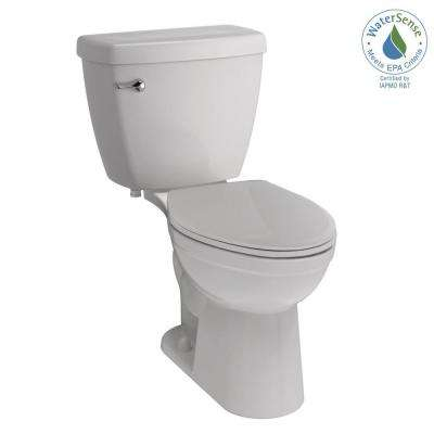 Foundations 2-piece 1.28 GPF Single Flush Elongated Toilet in White