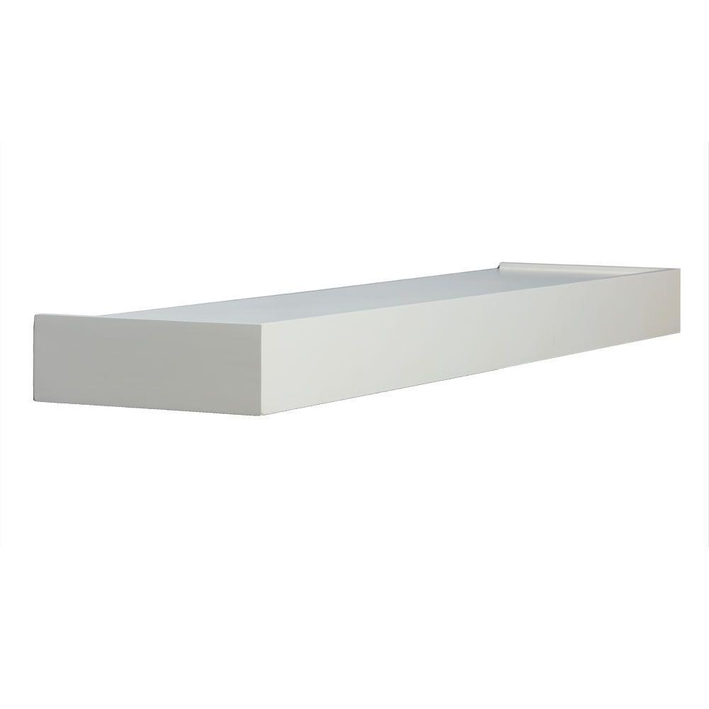 Floating White Decorative Shelf