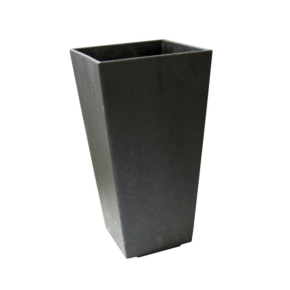 TierraVerde Tierra Verde 10 in. x 20 in. Slate Rubber Self-Watering Planter, Grey