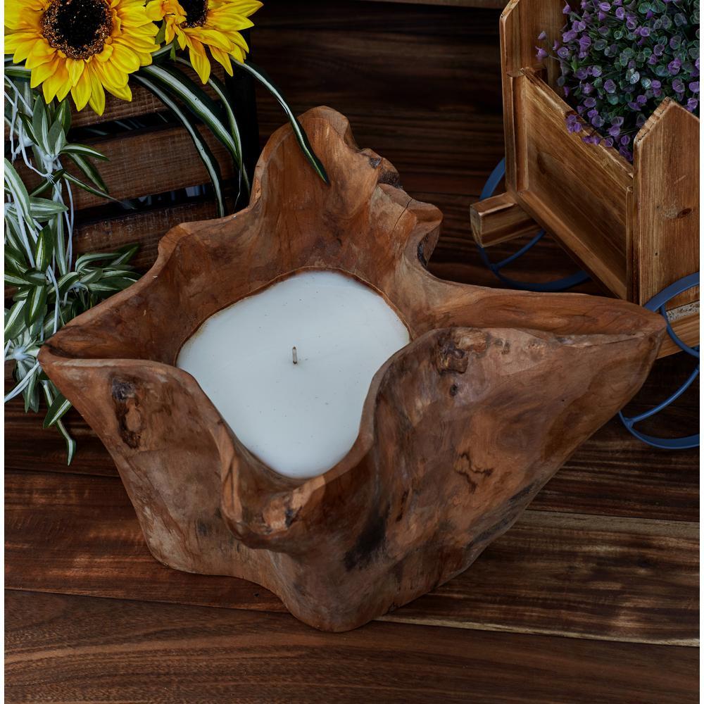 Brown Irrregularly Shaped Wax Candle