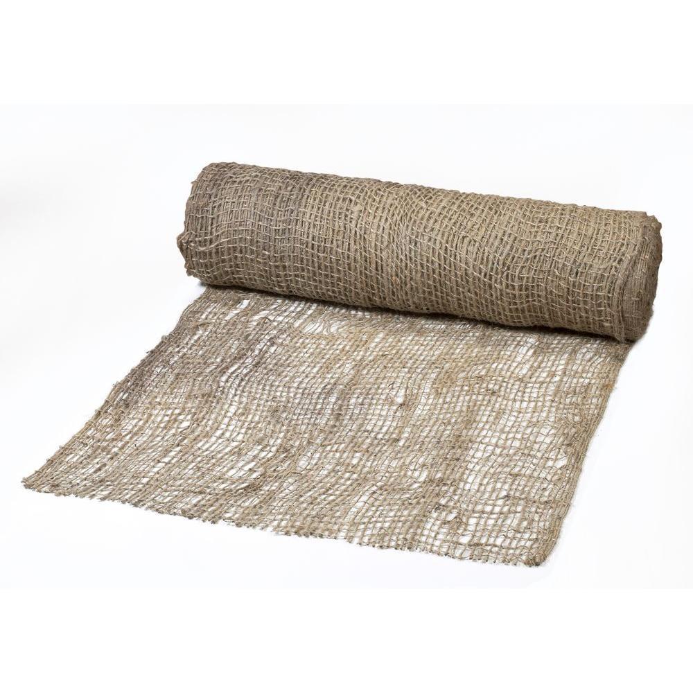 4 Ft X 225 Ft Jute Mesh Blanket 17685 1 48 The Home Depot