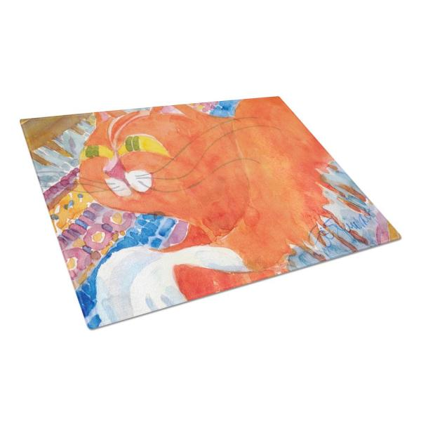 Caroline's Treasures Cat Tempered Glass Large Cutting Board 6033LCB