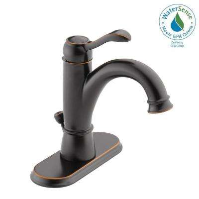 Porter 4 in. Centerset Single-Handle Bathroom Faucet in Oil Rubbed Bronze