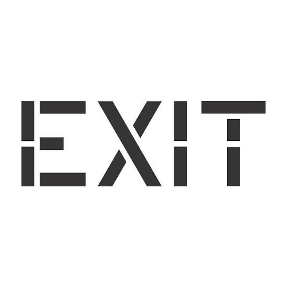 36 in. Exit Stencil