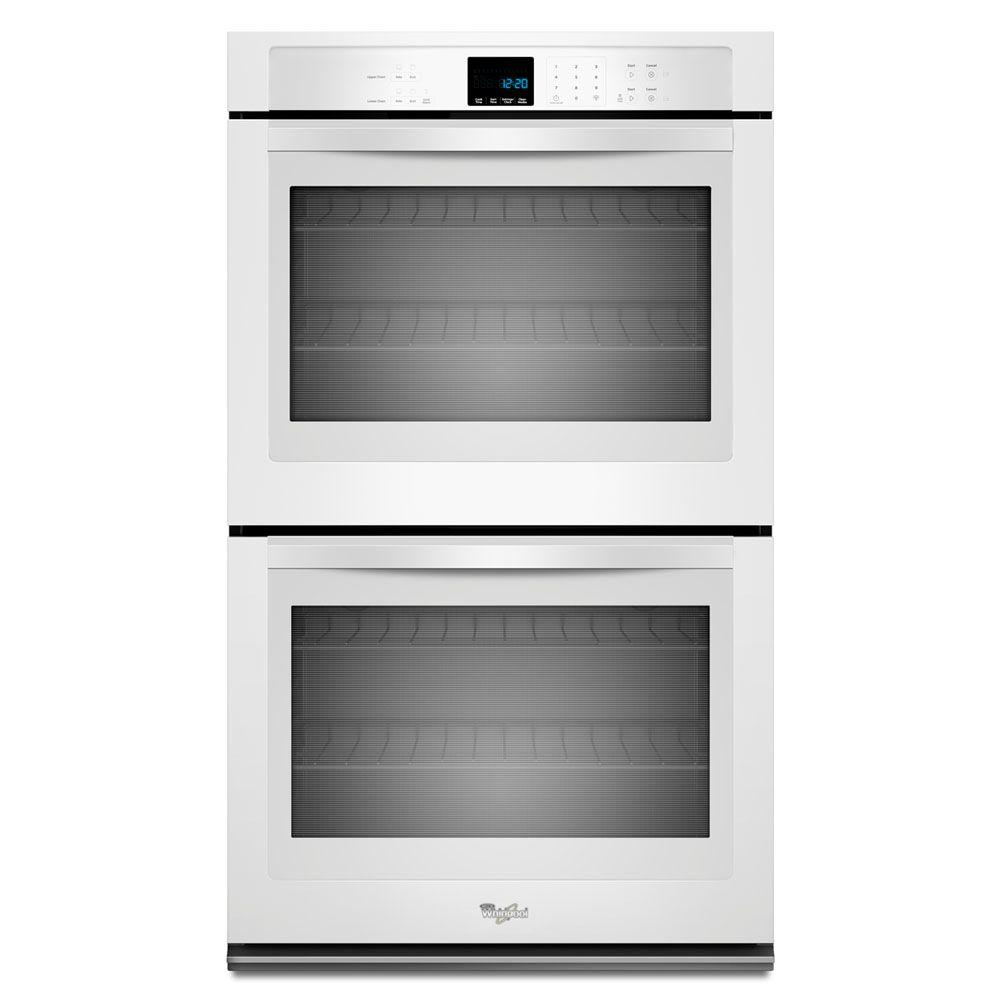Whirlpool 30 in. Double Electric Wall Oven Self-Cleaning in White ...
