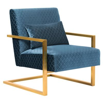 Skyline Blue Velvet Accent Chair