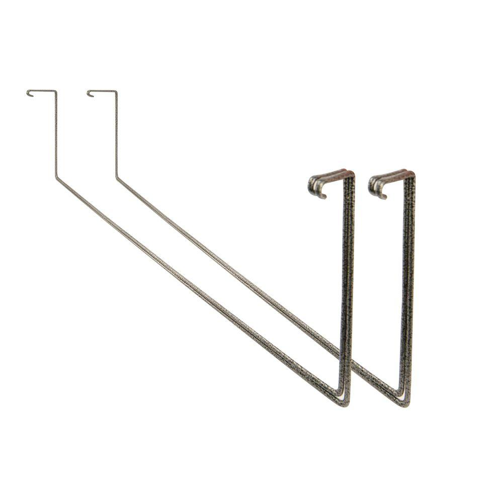 Add on Garage Ceiling Mount Storage Racks in Silver Hammertone (2-Pack)