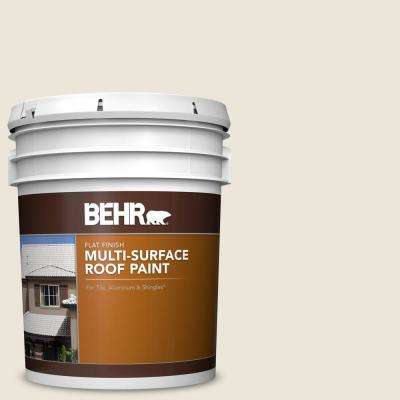 5 gal  #MS-32 Glacier White Flat Multi-Surface Exterior Roof Paint