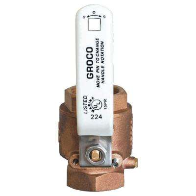 1 in. Bronze Full Flow In-Line Ball Valve