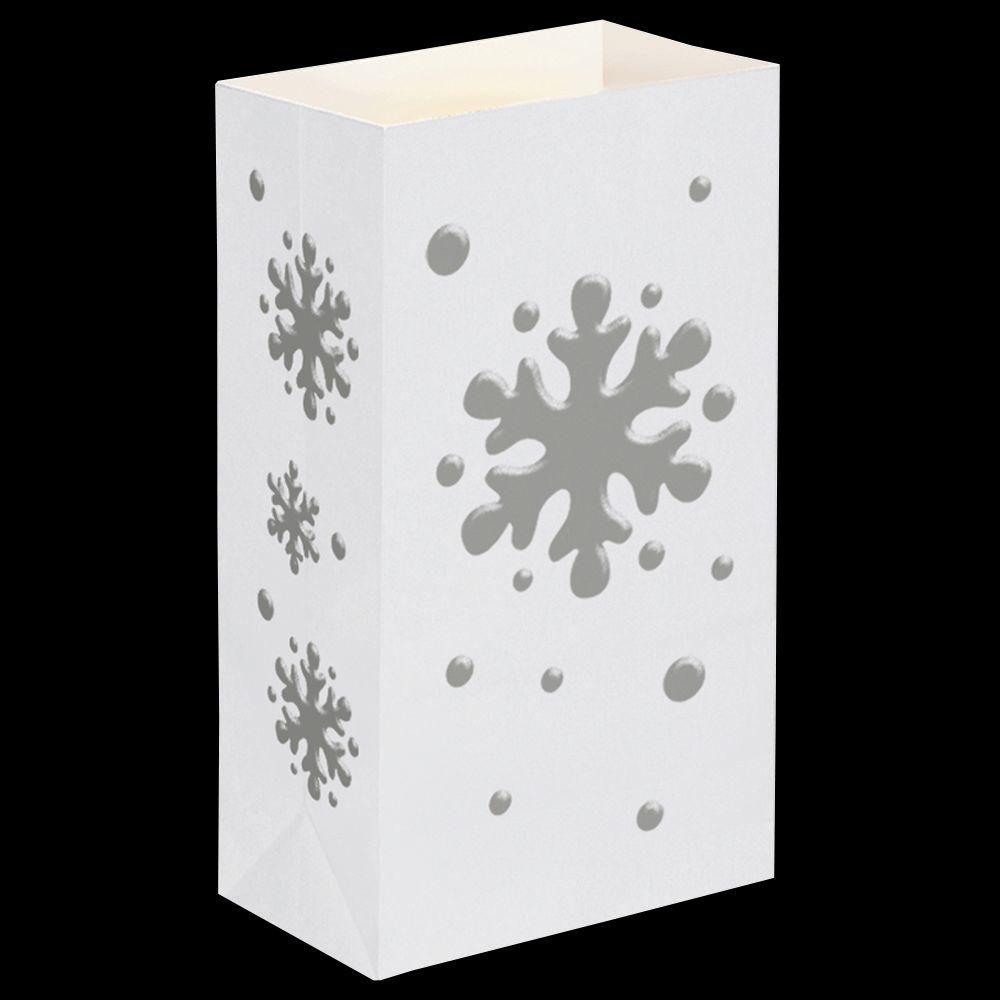 Lumabase Snowflake Flame Resistant Luminaria Bags (100-Count)