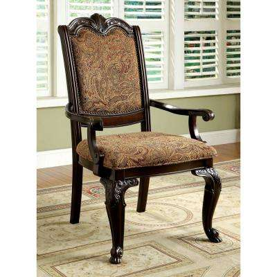 Bellagio Brown Cherry Traditional Style Arm Chair