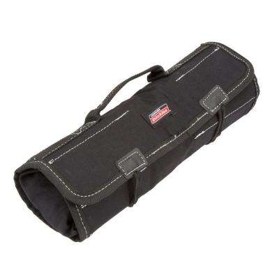 16-Compartment Small Tool / Wrench Roll, Black