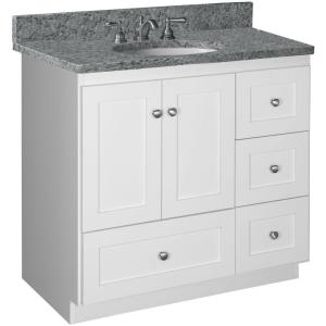 Simplicity By Strasser Shaker 36 In W X 21 In D X 34 5 In H Vanity With Right Drawers Cabinet
