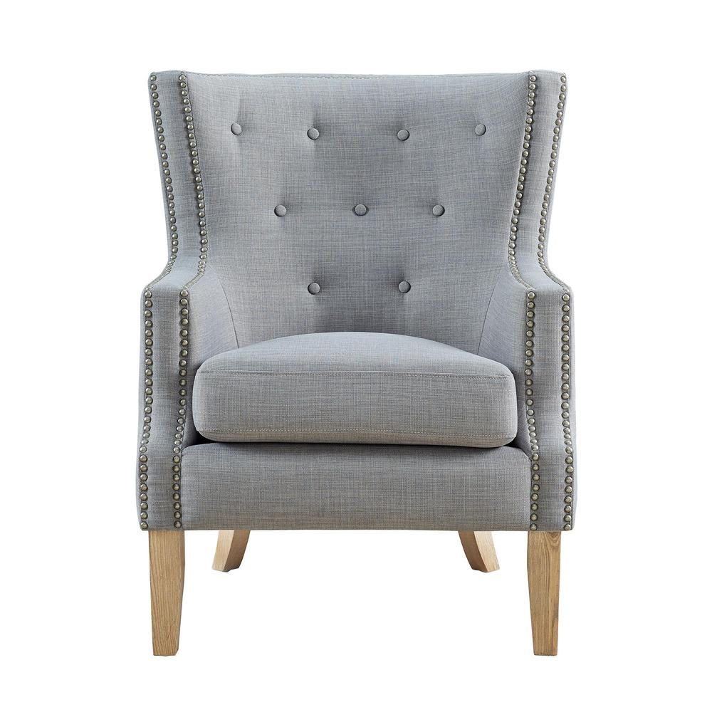 Fanny gray upholstered accent chair