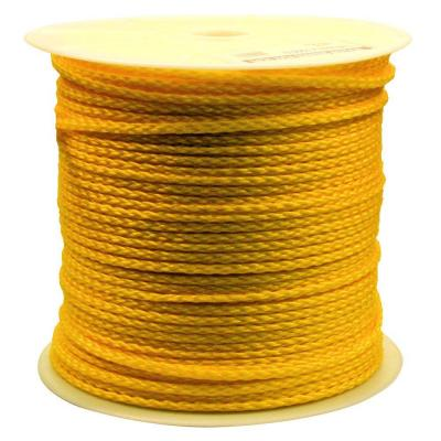 1/4 in. x 1000 ft. Hollow Braided Rope Yellow