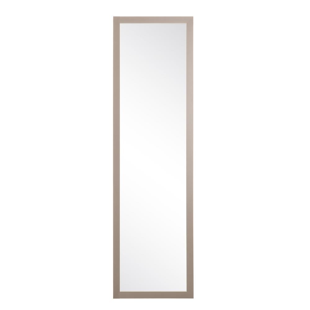 BrandtWorks Modern Matte Gray Slim Floor Mirror BM70Thin